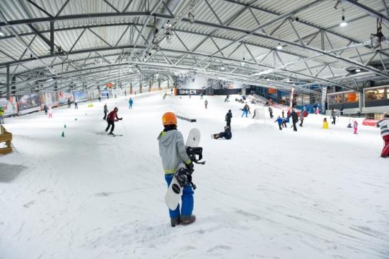 activités evjf amsterdam - snowboard indoor