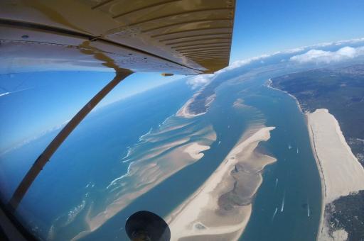activités evjf arcachon - saut en parachute à arcachon