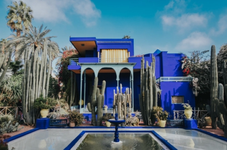 idées-evjf-à-marrakech-visite des jardin yves saint laurent marrakech