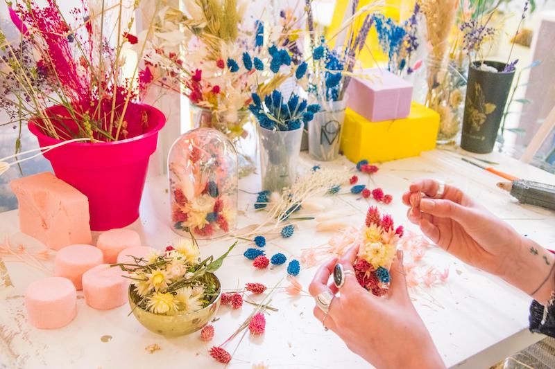idées evjf strasbourg - atelier de fleurs séchées strasbourg