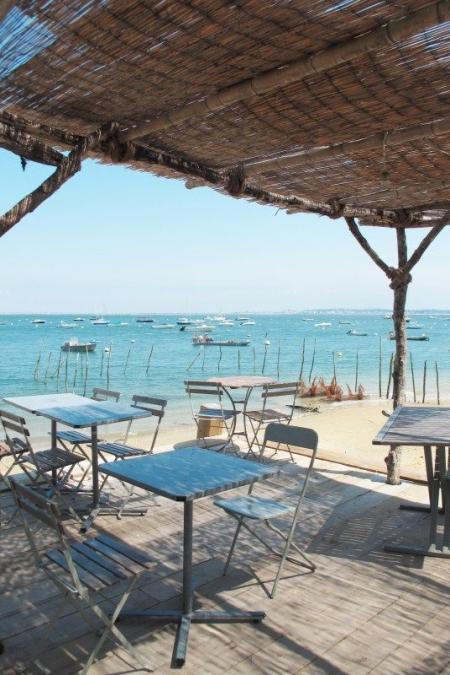 terrasse dun restaurant avec vue sur le port darcachon
