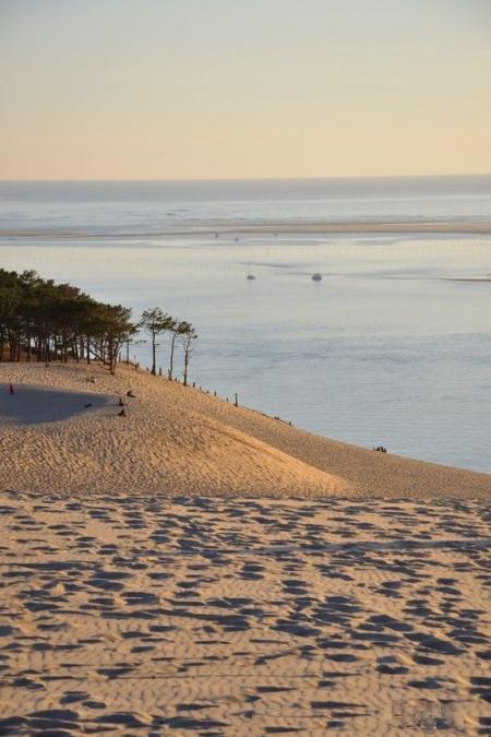vue sur la dune du pilat et la plage darcachon